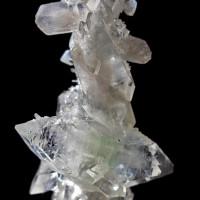 FluorApophyllite stalactite w Stilbite