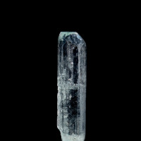 Beryl var. Aquamarine dissolution etched