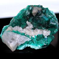 Dioptase w Calcite