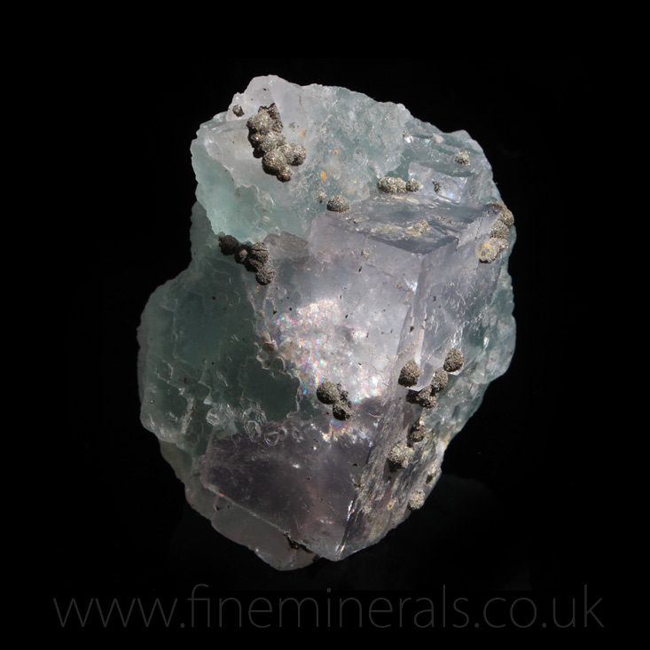 Fluorite w Pyrite spheres